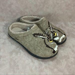 ⚡️SOLD⚡️LL Bean Owl Motif Wool Clog Slippers